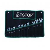 Kombinuotų raktų komplektas 8-22mm 11 vnt TSTOP TS-09002
