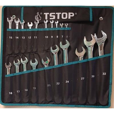 Kombinuotų raktų komplektas TSTOP  20 vnt  TS-09920